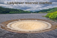 Ladybower overflow in full force,